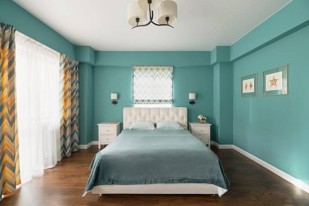 Голубая спальня — нежность и романтика в интерьере