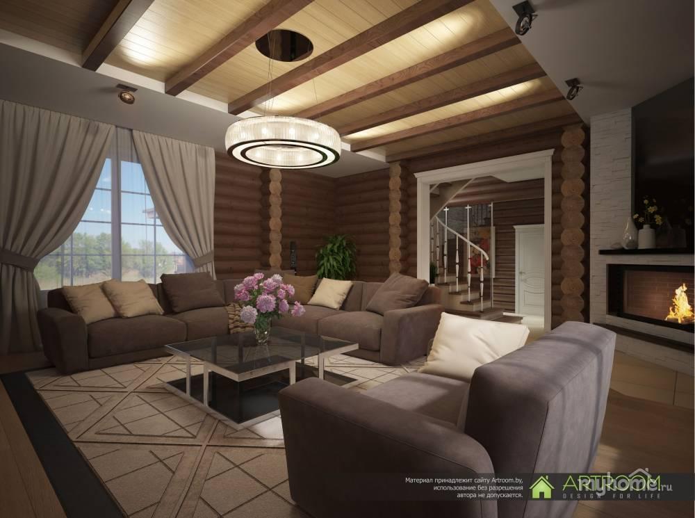 Оформление интерьера домов из бруса: красивые идеи по комнатам
