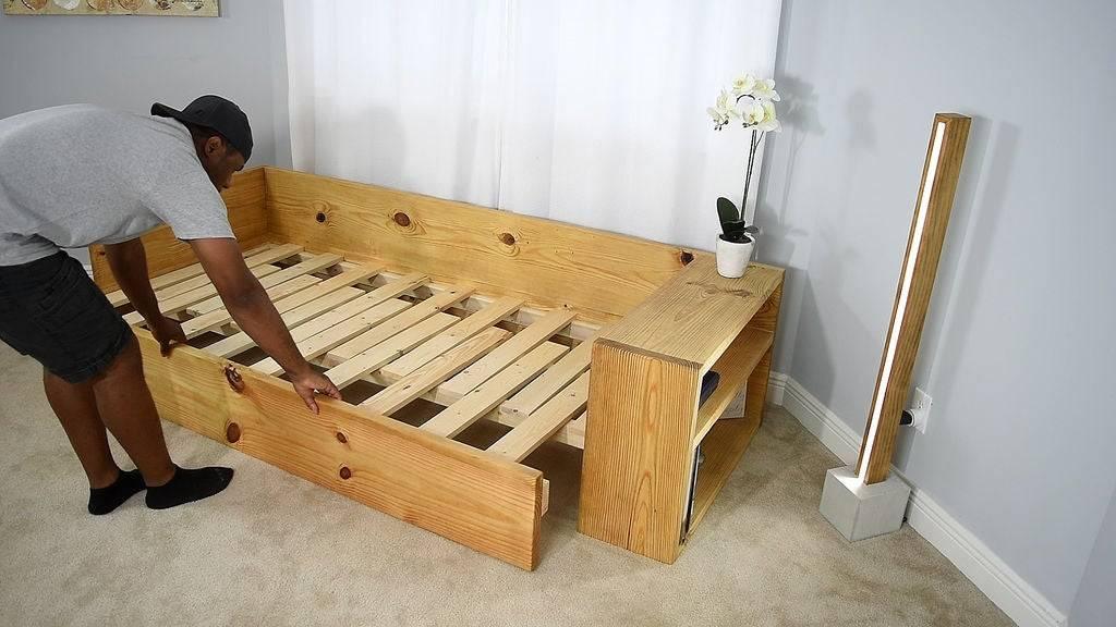 Кровати из дерева своими руками (74 фото): как сделать деревянную двуспальную и двухъярусную из бруса или досок, из массива