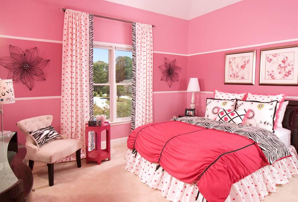 Розовые шторы — 105 фото стильных и современных примеров использования штор в дизайне интерьера
