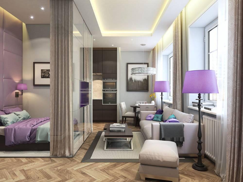 Дизайн однокомнатной квартиры 35 кв м: фото в современном стиле - ремонт квартир фото