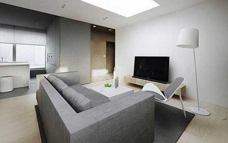 Гостиная в стиле минимализм: лаконичный интерьер для небольшой квартиры