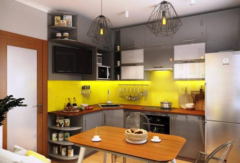 Г-образная кухня: 100 фото лучших схем расположения мебели в больших и маленьких кухнях