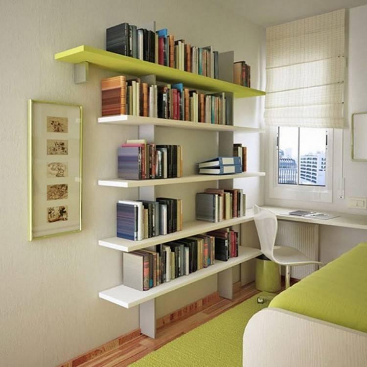 Полки для книг: как правильно выбрать и установить