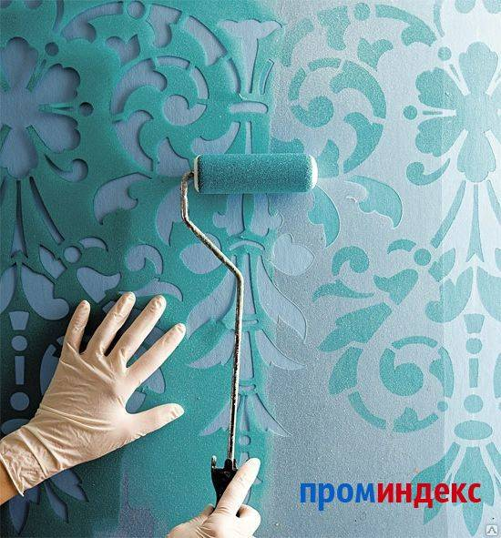 Покраска виниловых обоев на флизелиновой основе