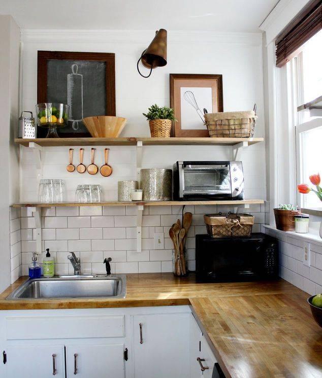 Полки для кухни на стену своими руками: навесные открытые варианты | дизайн и фото