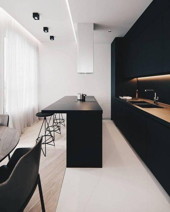"""Стиль """"минимализм"""" в интерьере кухне"""