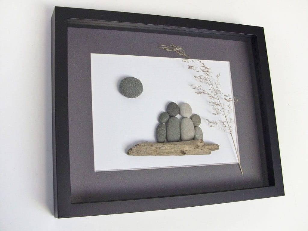 Поделки из камней - 90 фото и видео создания стильных украшений для дома и сада