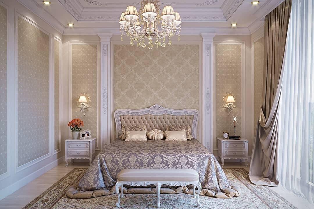 Спальня в классическом стиле 75 фото идей для интерьера