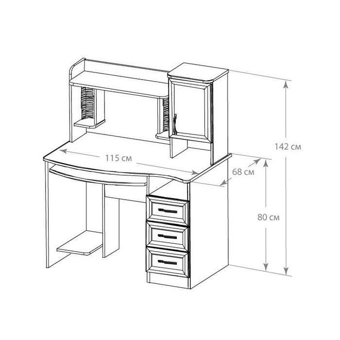 Высота письменного стола: стандарт для расположения столешницы, какая высота стандартная и правильная, модели с регулируемой высотой, другие размеры