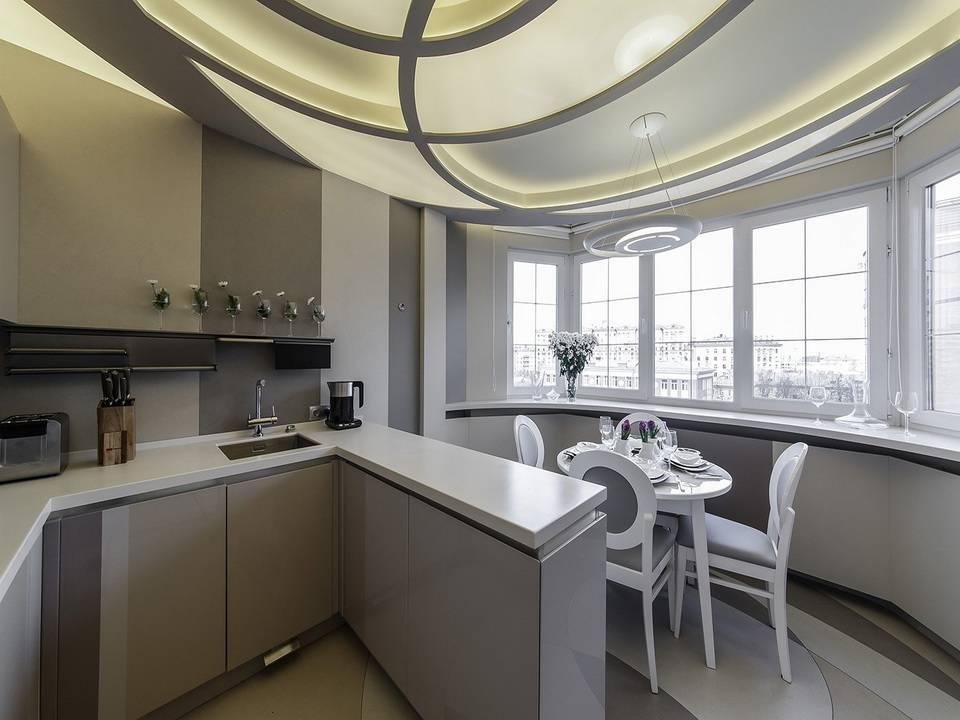 Кухня п 44т (42 фото): видео-инструкция по оформлению интерьера кухонной комнаты с треугольным эркером в однокомнатной квартире, домах своими руками, проект, фото, цена