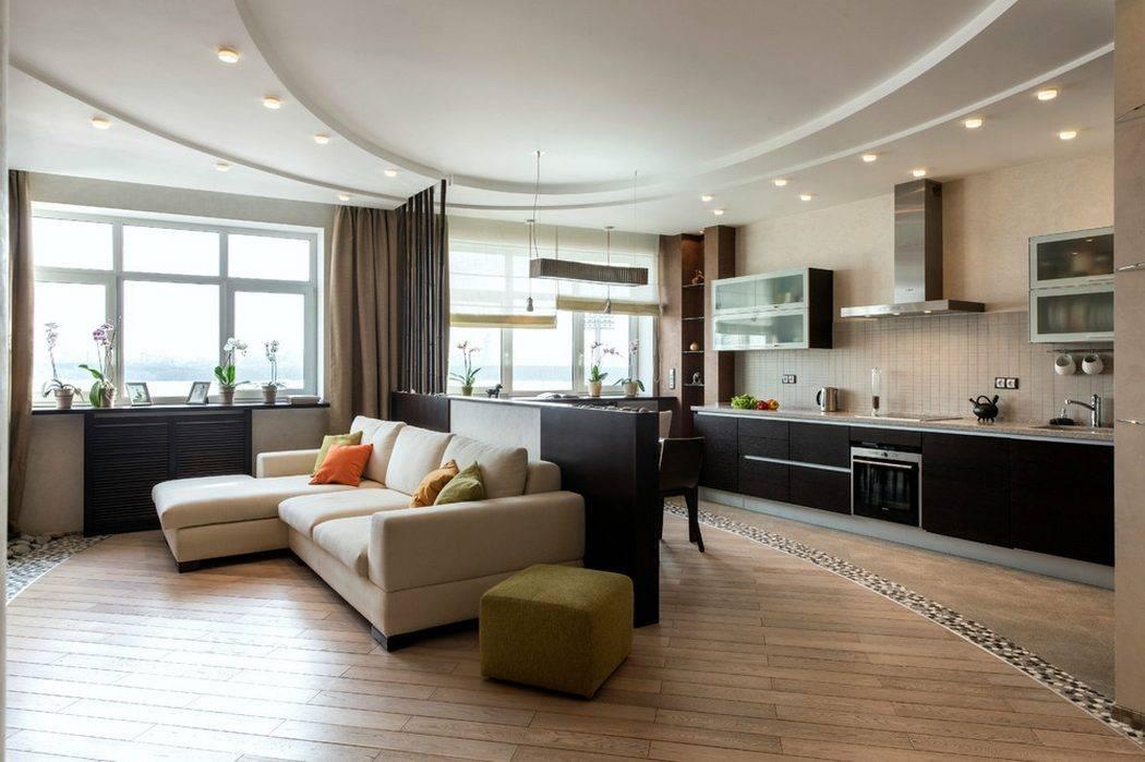 6 главных шагов в правильном дизайне кухни-гостиной площадью 30 кв. м.