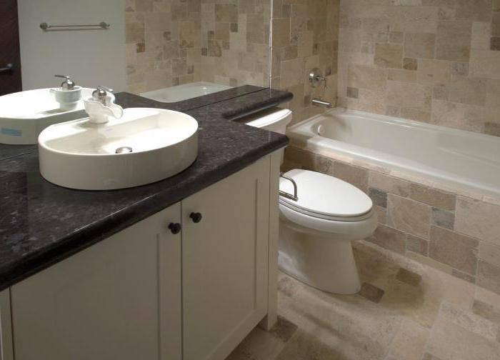 Столешница в ванную под раковину: особенности, разновидности, выбор