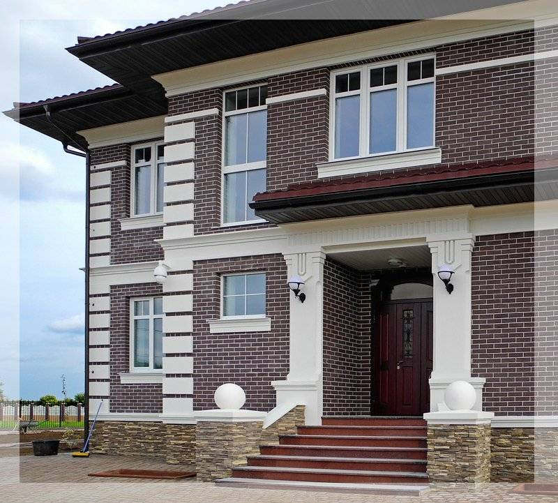 Фото фасадов частных домов: 50 вариантов дизайна