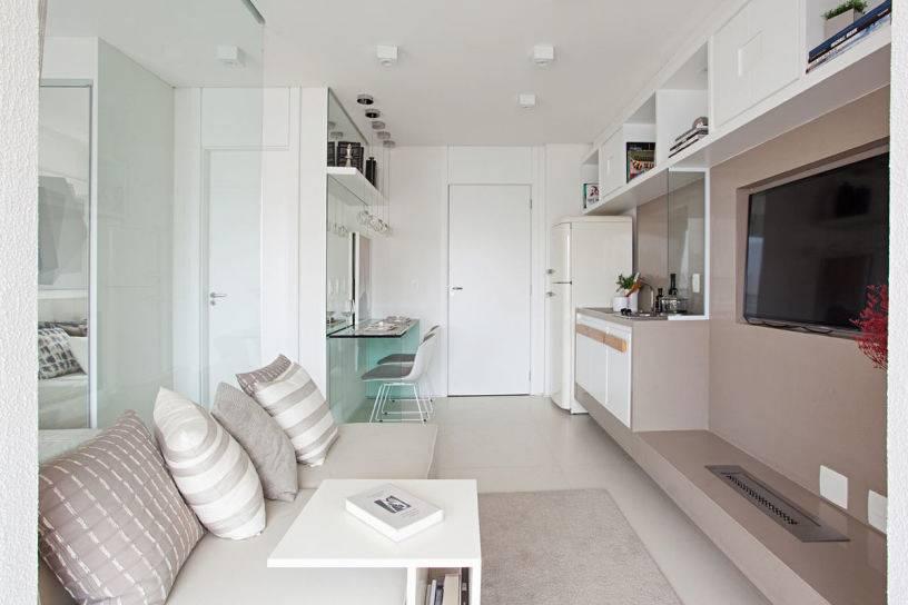 Дизайн маленькой квартиры-студии 18 кв. м. – фото интерьера, идеи обустройства