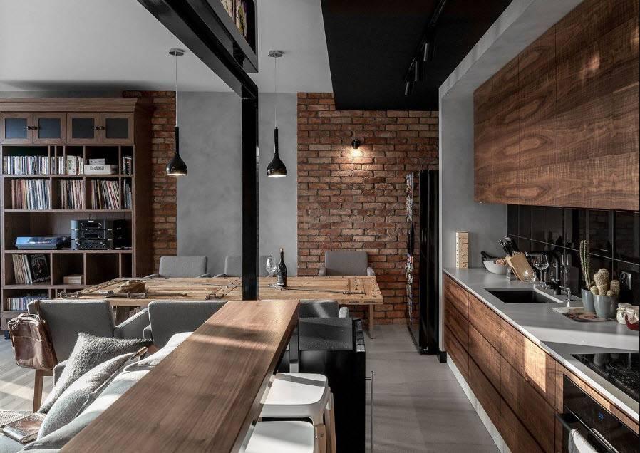 Модульная мебель для кухни в стиле лофт: фасады, своими руками, дизайн современной кухни, фото