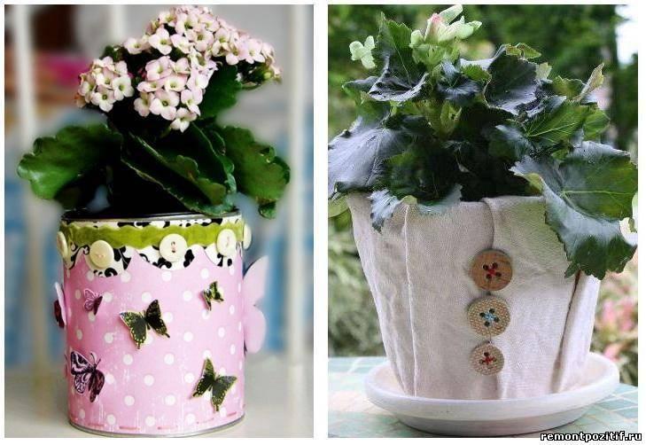 Декор горшков - простые идеи оформления и применения декора горшков (145 фото)