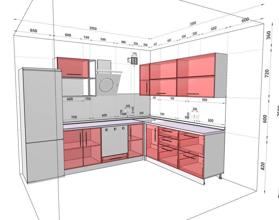 Проект кухни с расстановкой мебели (65 фото): как правильно расставить, расположение мебели