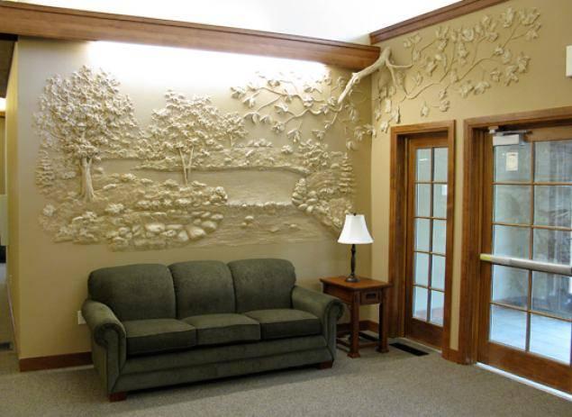 Цветочный барельеф – идеи красивого украшения стен