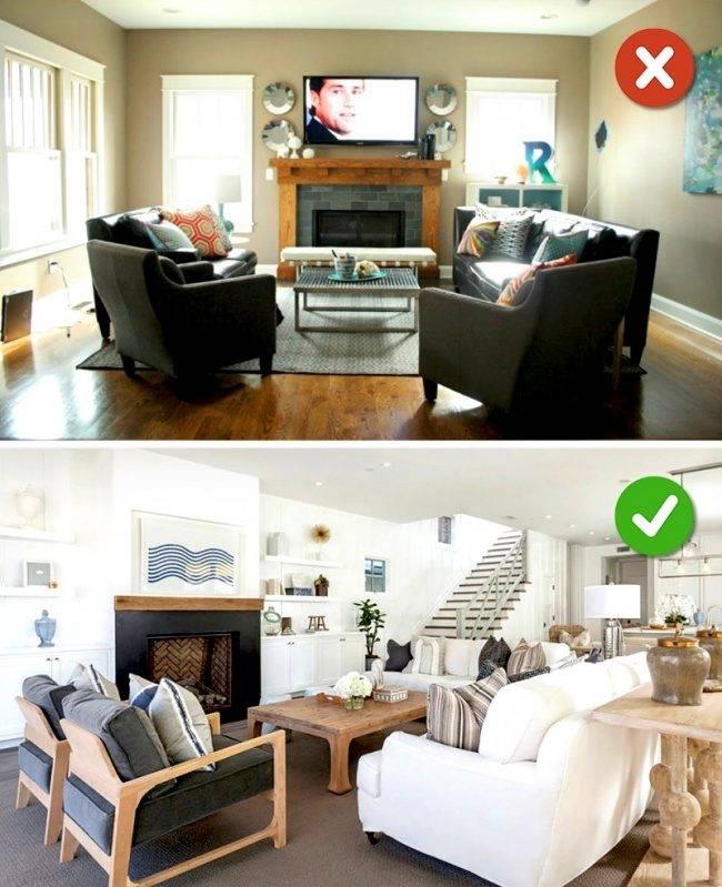 Ошибки дизайна интерьера при самостоятельном ремонте квартир
