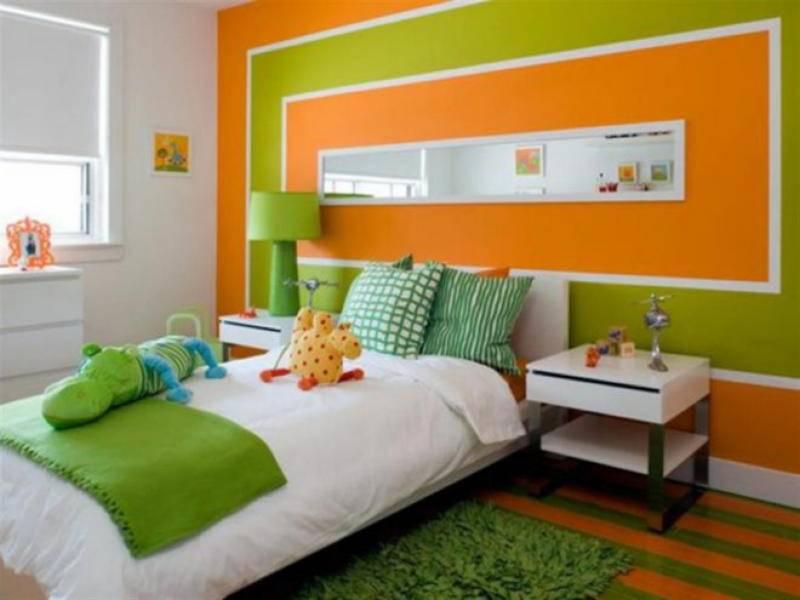 Зелёная спальня - 80 фото интерьеров