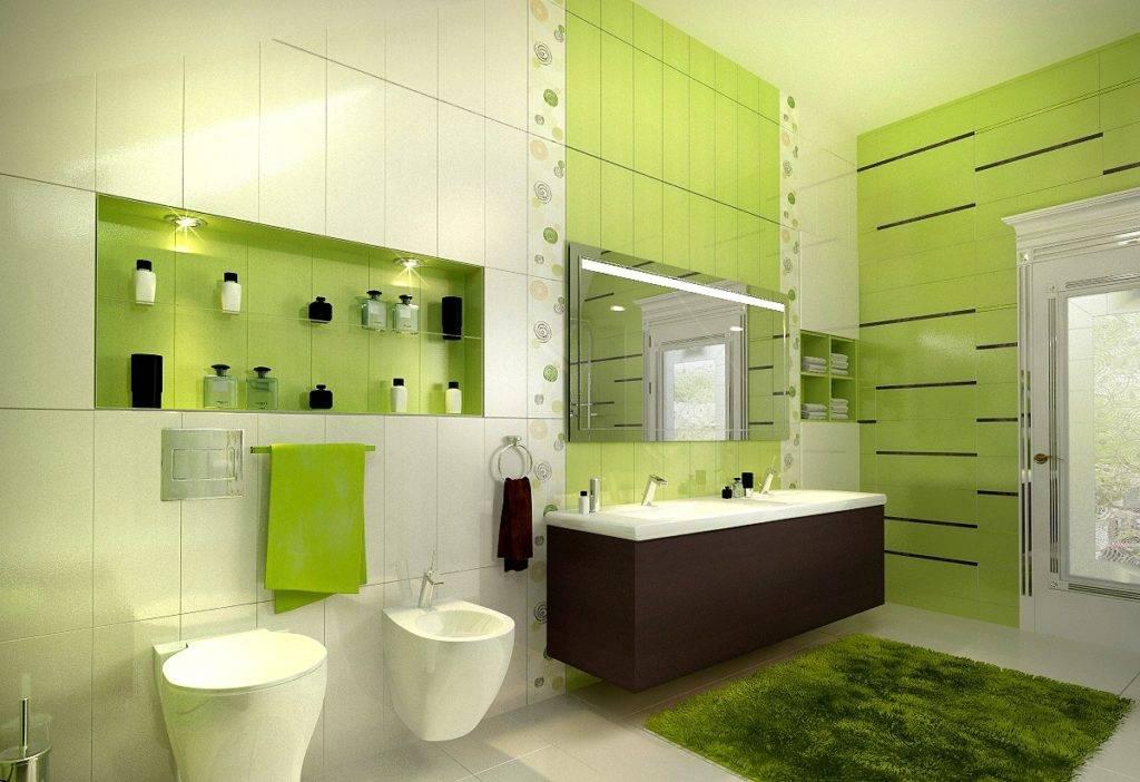 Ванная комната в зеленом цвете: 100+ реальных фото примеров
