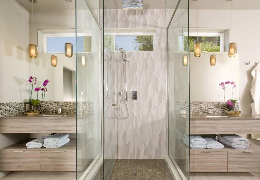 Маленькая ванная комната: дизайн интерьера с душевой кабиной