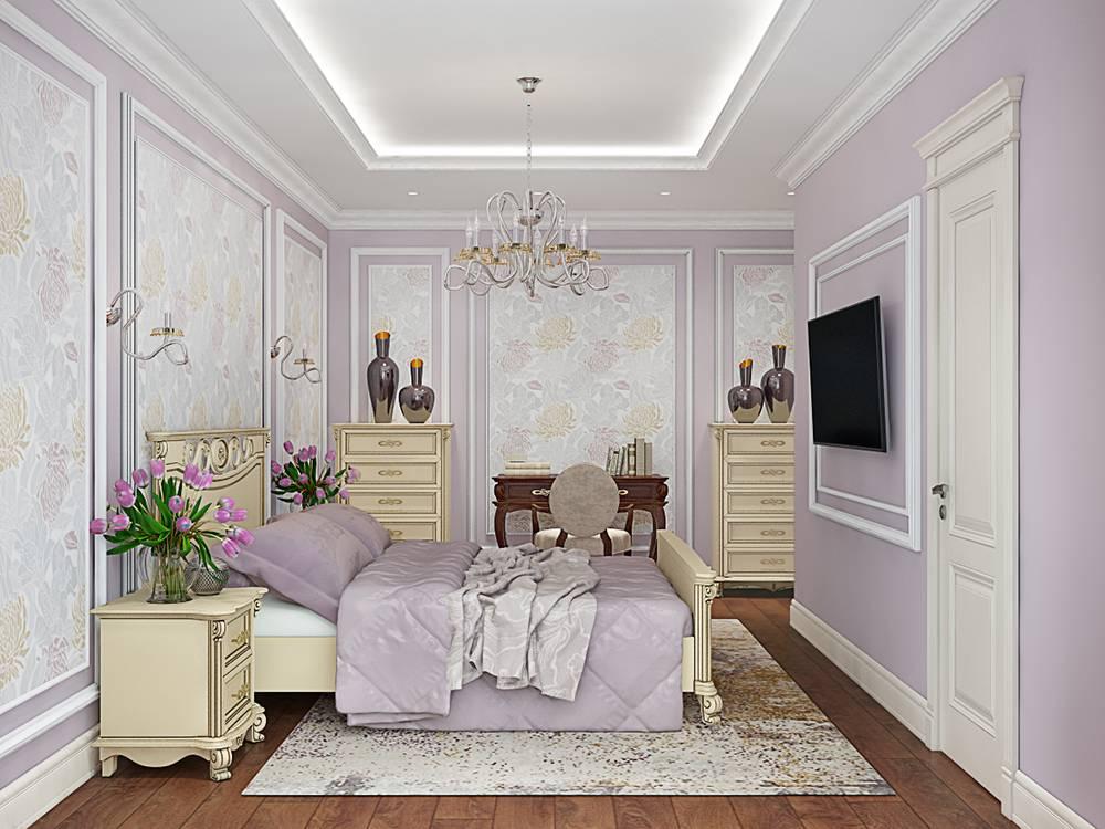 Интерьер спальни в светлых тонах со светлой мебелью в 2021 году: фото