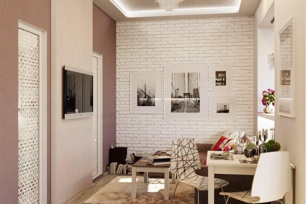 Кирпич в гостиной (47 фото) — как отделать стену кирпичом и обоями под кирпич?
