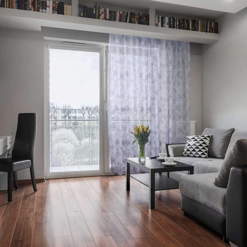 Фиолетовые, лиловые, сиреневые шторы в интерьере гостиной, спальни  - 40 фото