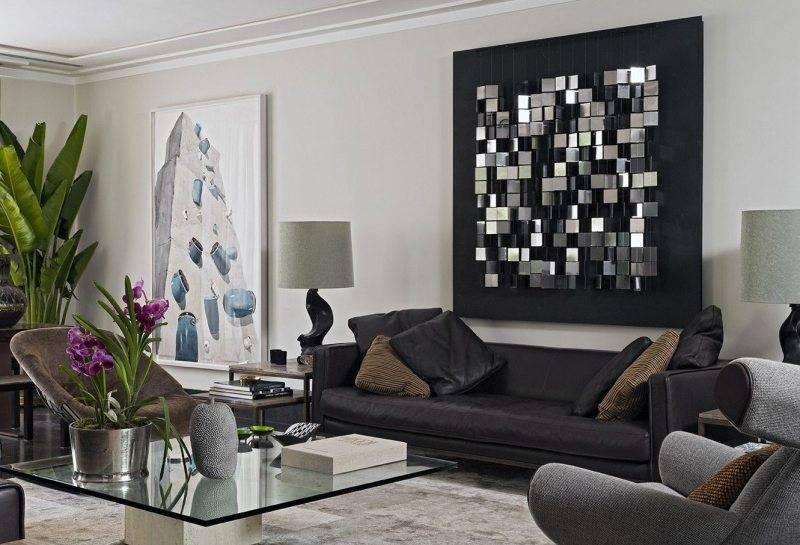 Декор стен в гостиной в современном стиле