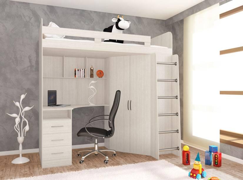 Кровать чердак для девочки, как выбрать красивую и функциональную мебель