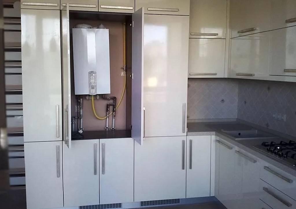 Как спрятать газовый котел на кухне с фото примерами — познаем подробно
