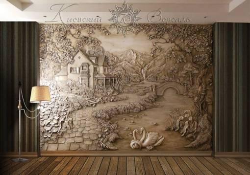 Барельеф на стене (68 фото): как сделать своими руками? барельеф в виде роз и замка, льва и природы, сакуры и дракона, настенный барельеф на кухне и в других комнатах
