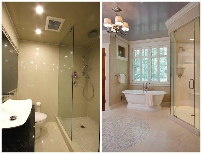 Натяжные потолки в ванной: плюсы и минусы натяжной конструкции