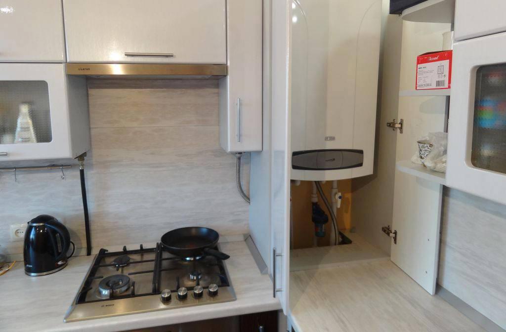 Кухни с газовым котлом: с газовой колонкой, с котлом отопления, дизайн, фото