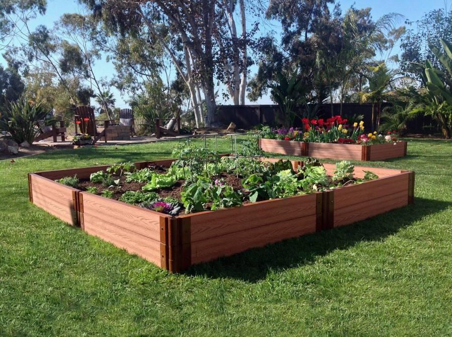 Грядки из дпк (39 фото): высокие ограждения из дпк-досок и теплые садовые грядки, делаем их своими руками, отзывы огородников