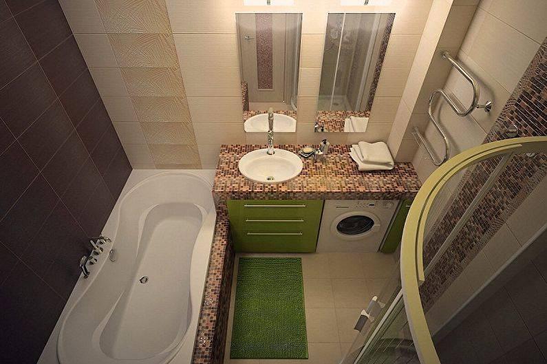 Ванная 3 кв. м. — дизайн маленькой ванной и особенности выбора стиля для маленькой ванной