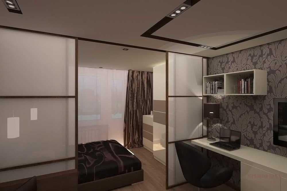 Зонирование гостиной спальной комнаты 47 фото идей, используем перегородки, мебель и шторы для разделения