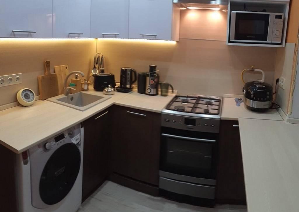 Дизайн маленькой кухни в хрущевке с холодильником - 35 фото