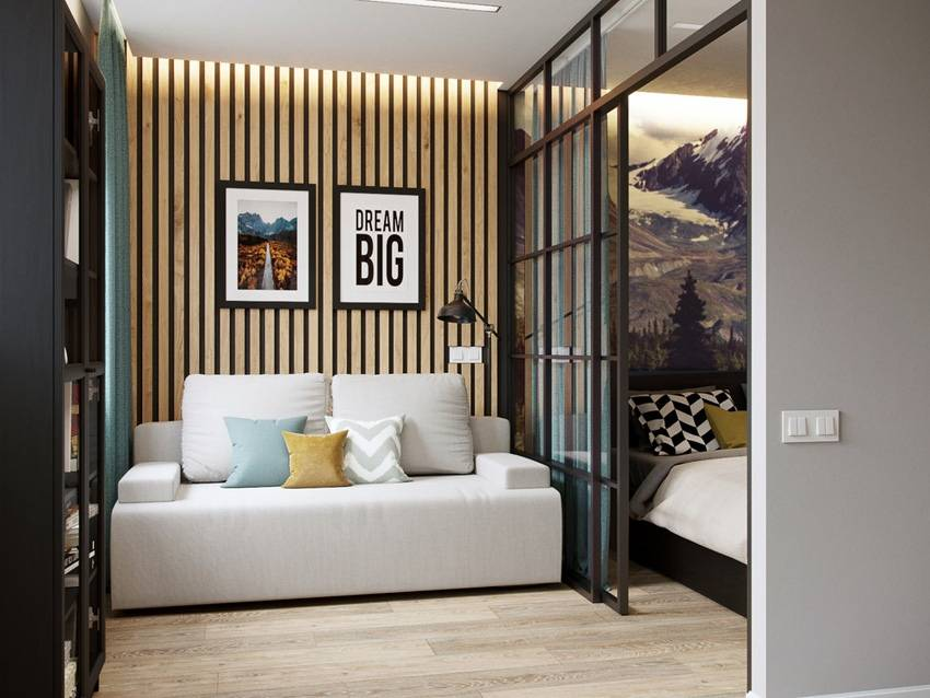 Дизайн однокомнатной квартиры 35 кв. м: комбинируем уют и многофункциональность