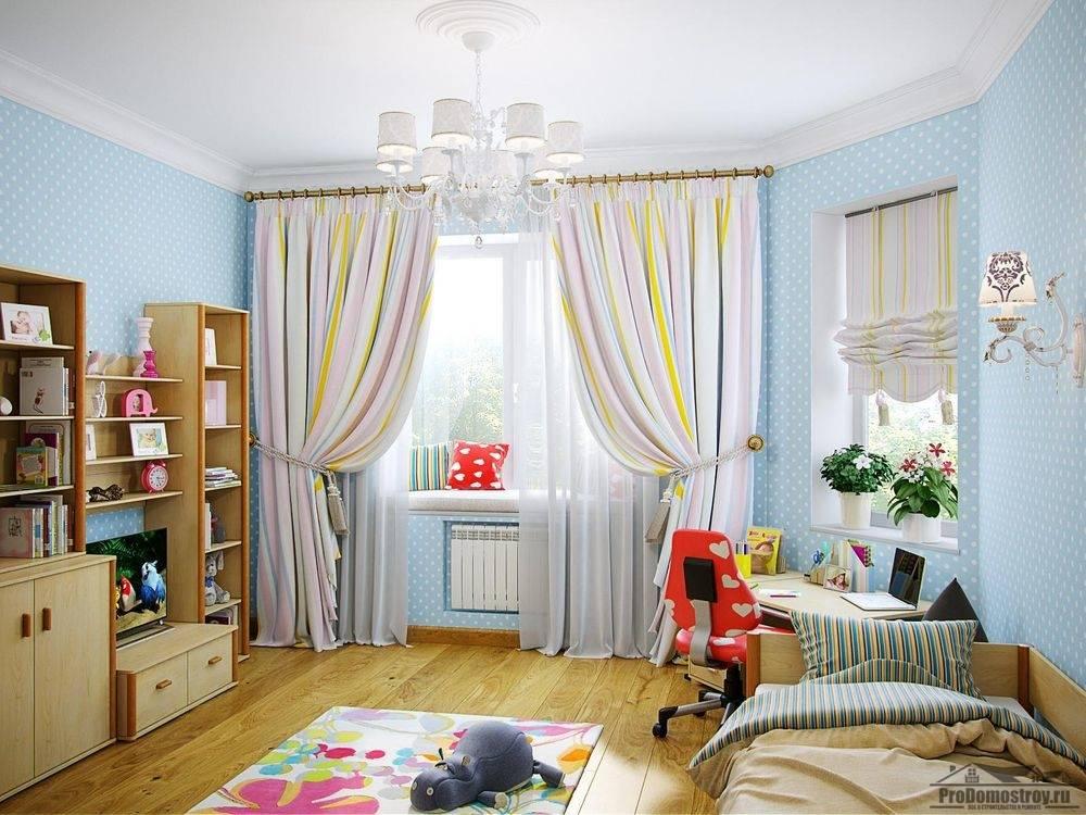 Советы по выбору стиля и дизайна занавесок в интерьер детской