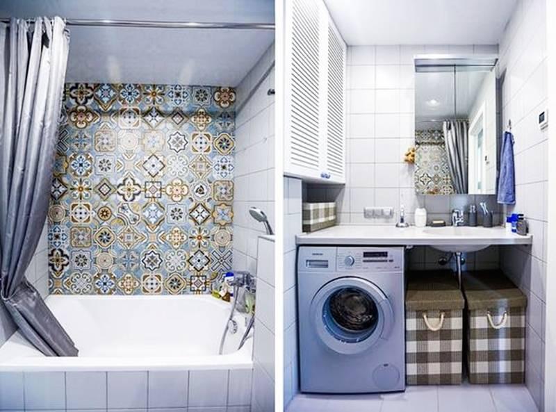 Дизайн ванной 2 на 2 м — функциональная комната +75 фото примеров