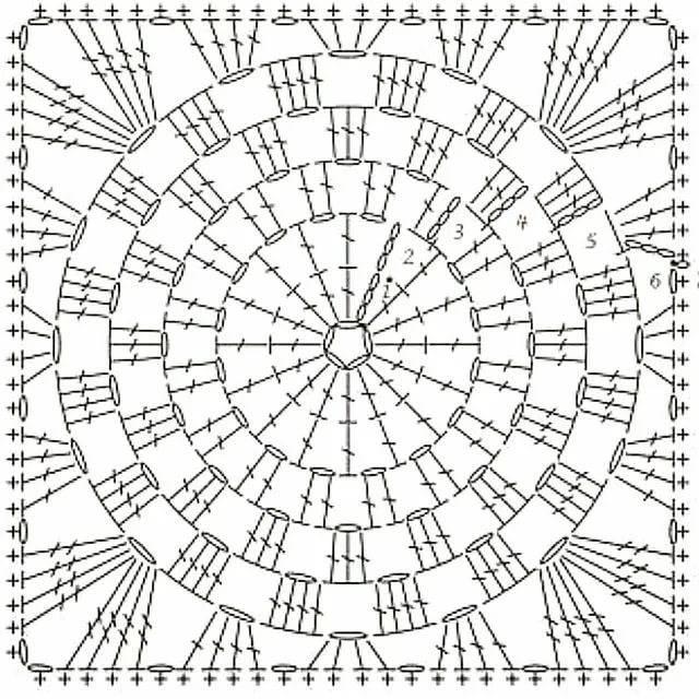 Вязание крючком накидки на стулья и табурет, схемы с описанием