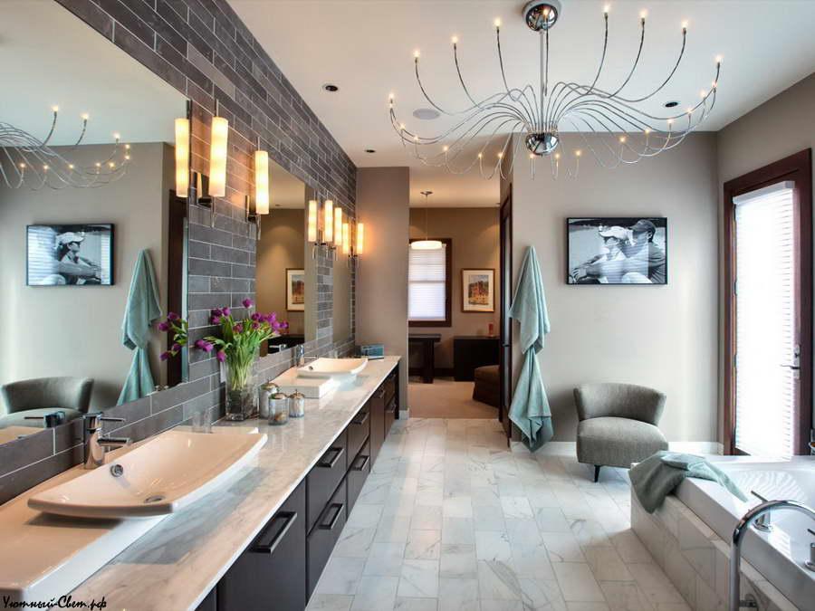 Освещение в ванной комнате – как совместить количество и красоту светильников