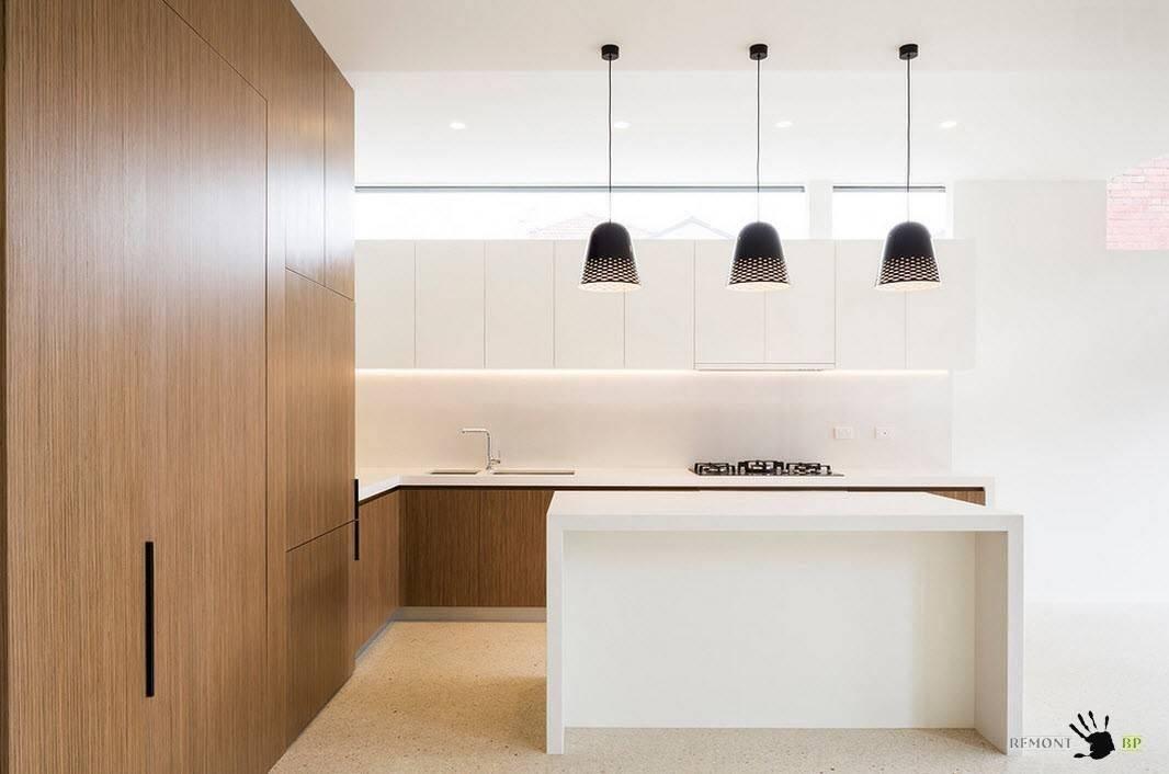 Дизайн кухни-гостиной в стиле минимализм