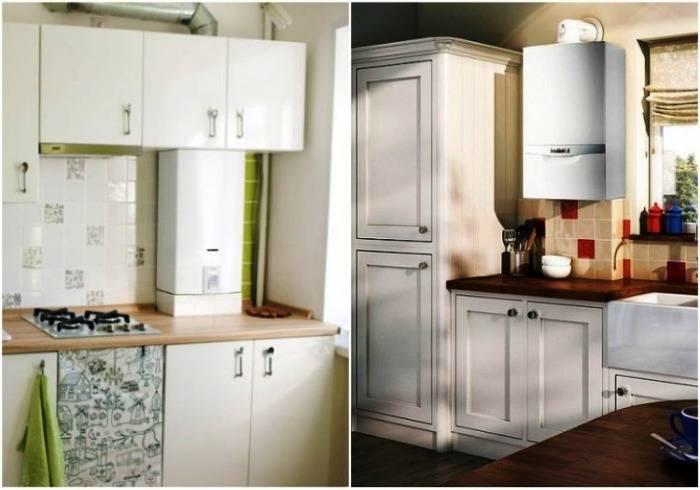 Интересные варианты дизайна кухни с котлом отопления