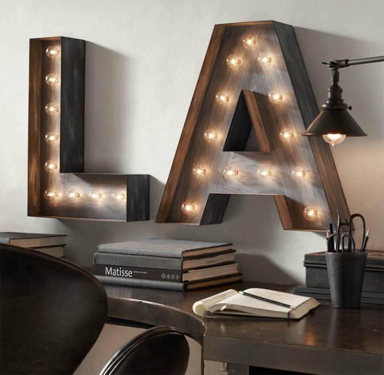 Украсьте интерьер своим именем – потрясающая идея декорирования помещения подсвеченными буквами