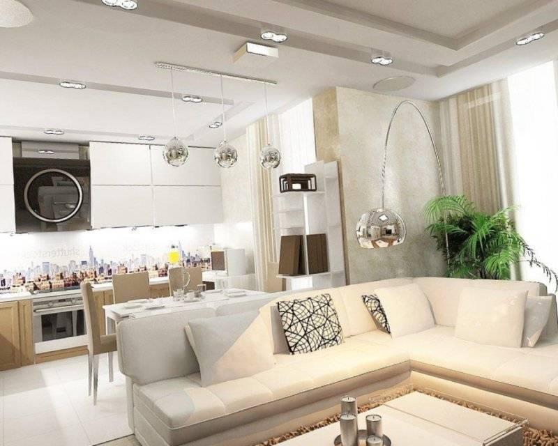 Дизайн гостиной совмещенной с кухней: 150 фото удачного дизайна интерьера (обзор самых стильных идей оформления)