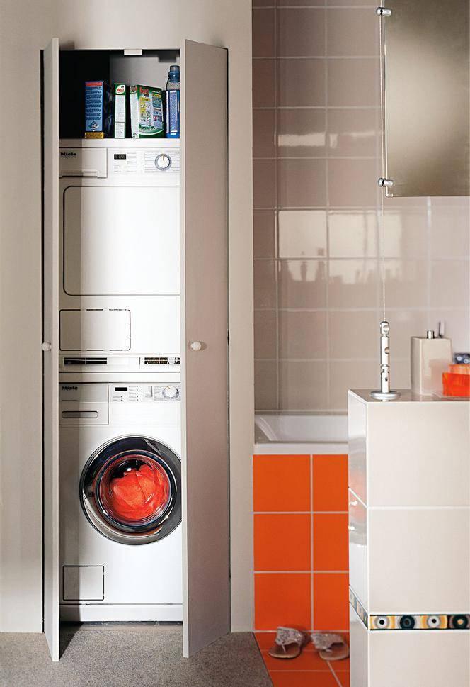 Стиральная машинка в ванной – секреты правильного обустройства на 79 фото